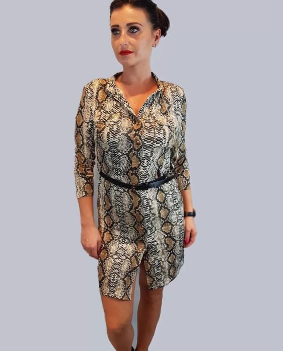 tijgerprint jurk dames