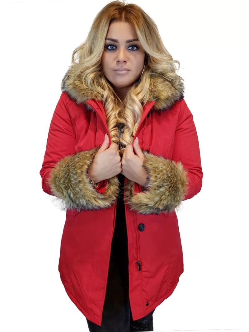Rode Jassen Dames - Winterjassen Dames Sale - Dameskleding