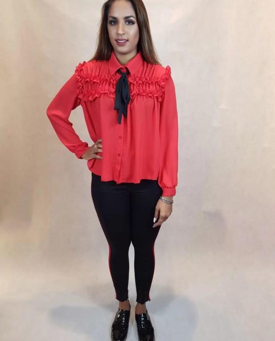 rode blouse dames - dames blouse - dameskleding