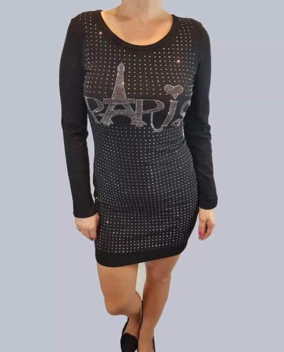 jurk met paris studs