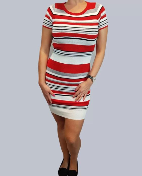 rood wollen jurk dames