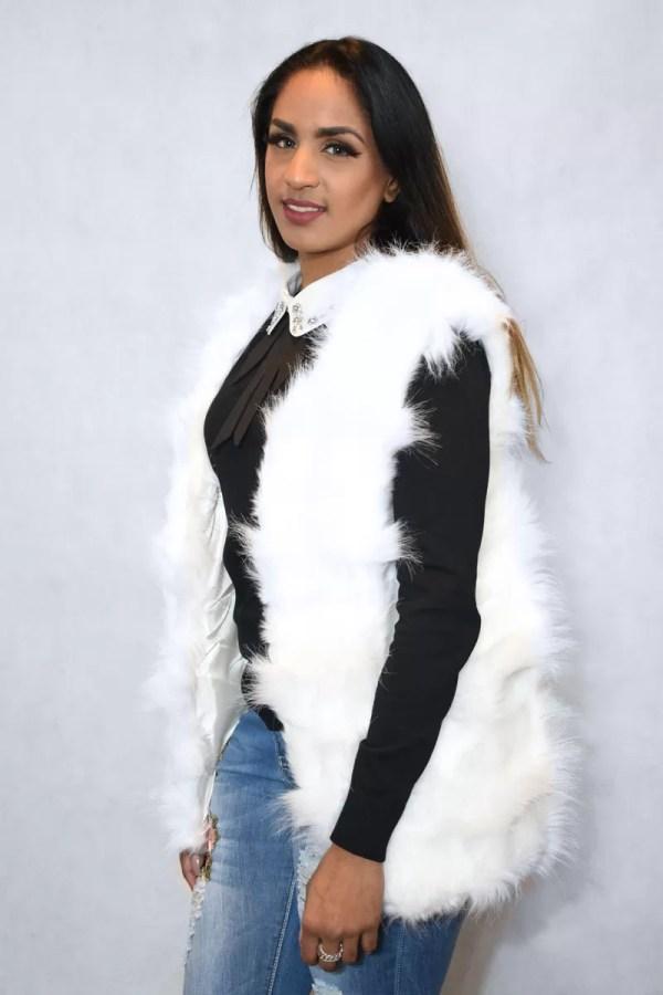 Korte Fur Bodywarmer - Bodywarmer Dames