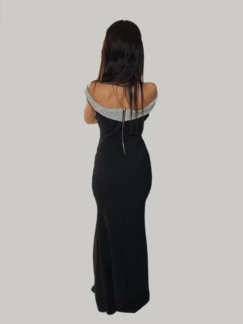 offshoulder jurk terug