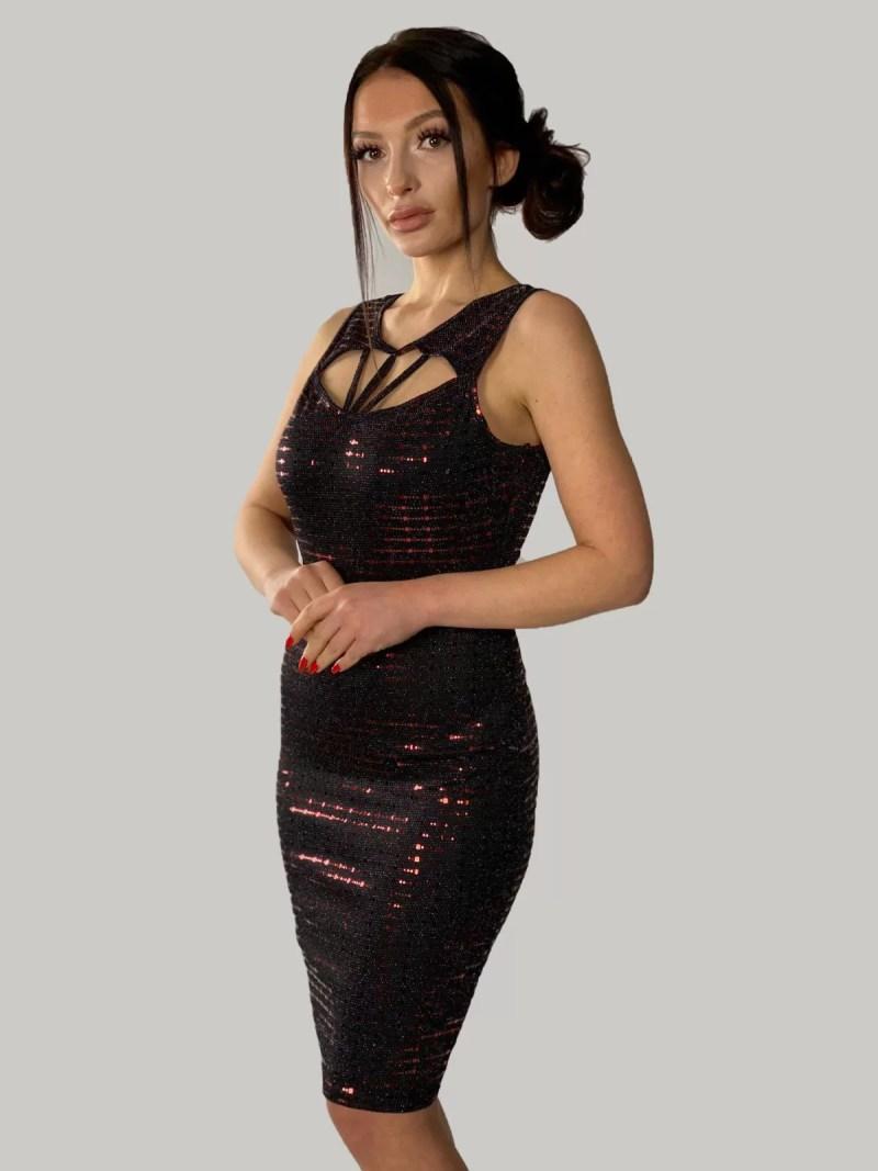 zwart-rood-mouwloze-jurk-met-glitters