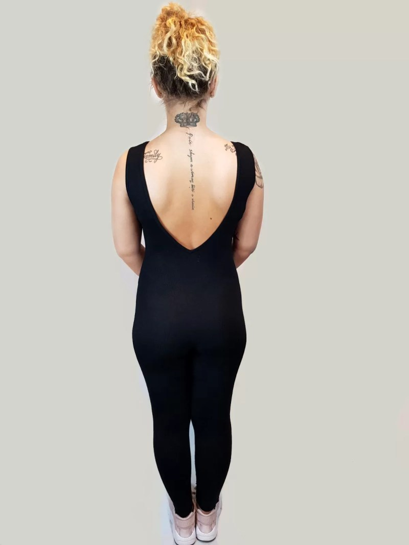 dames jumpsuit met veters