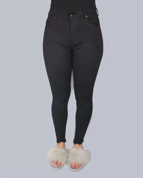 zwarte-spijker hoge broek