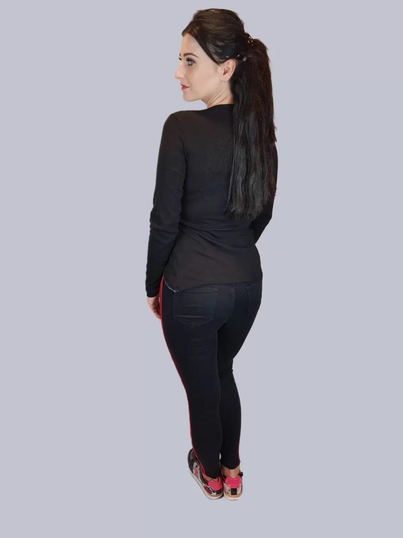 zwart broek rode steep
