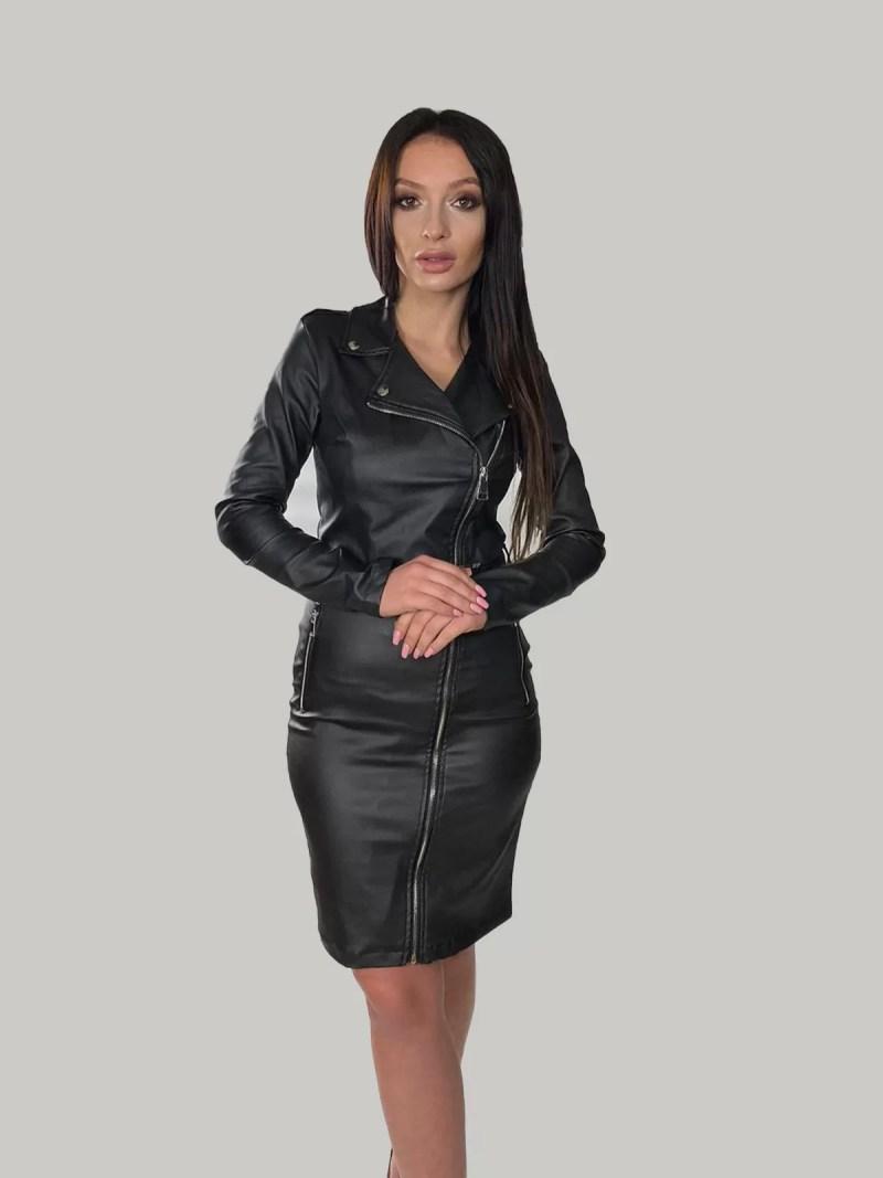 zwart-leren-jurk