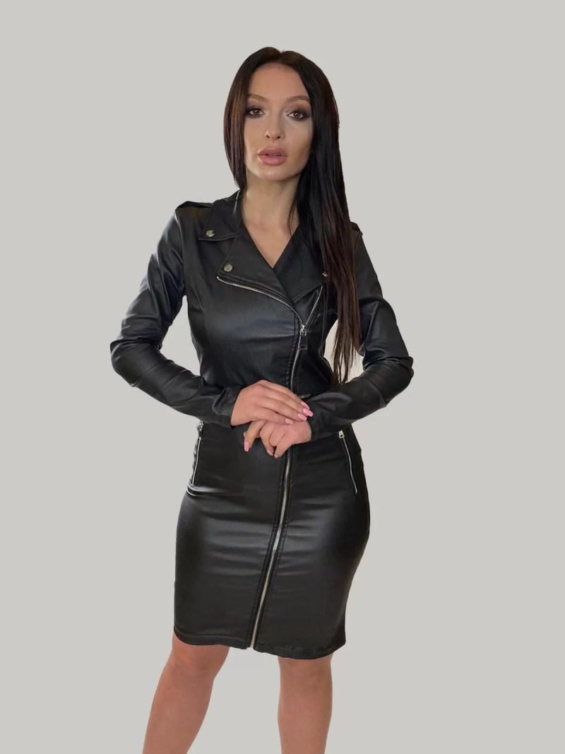 leren-jurk-zwart-voor-dames