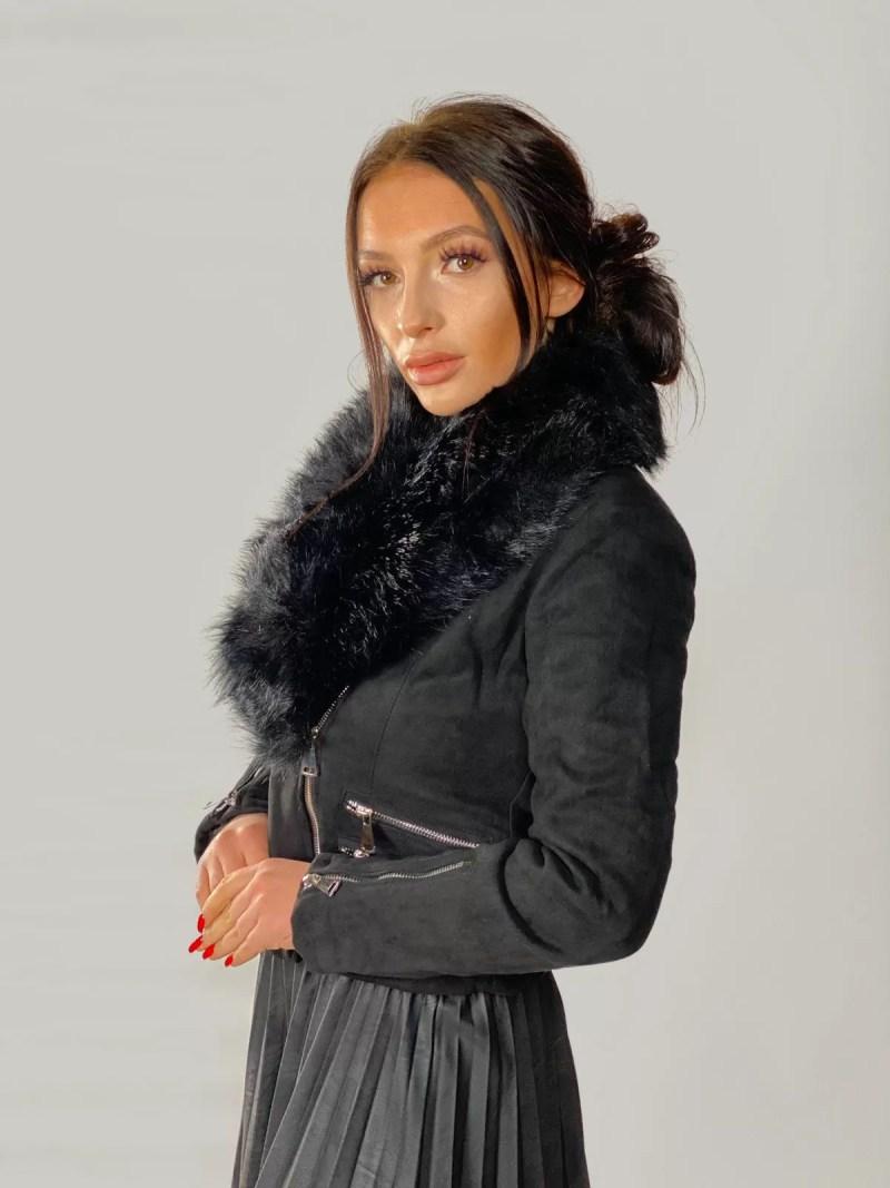 zwart-velvet-korte-jas-dames