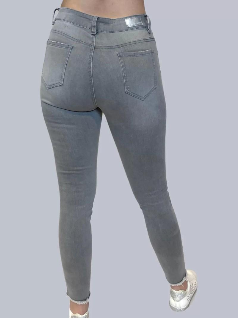 hoge grijs broek terug