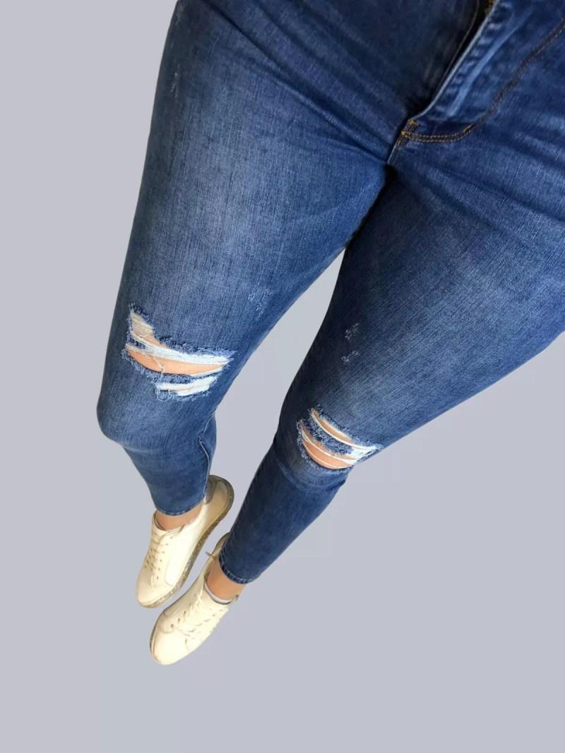 blauw spijkerbroek dames