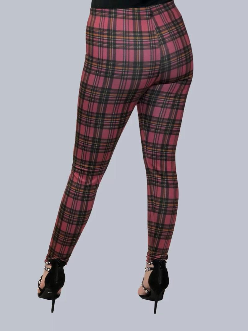 rood legging broek terug dames