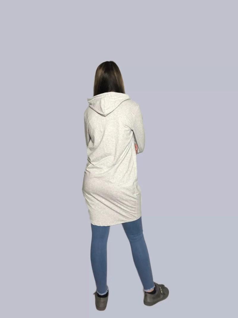 terug lange hoodie