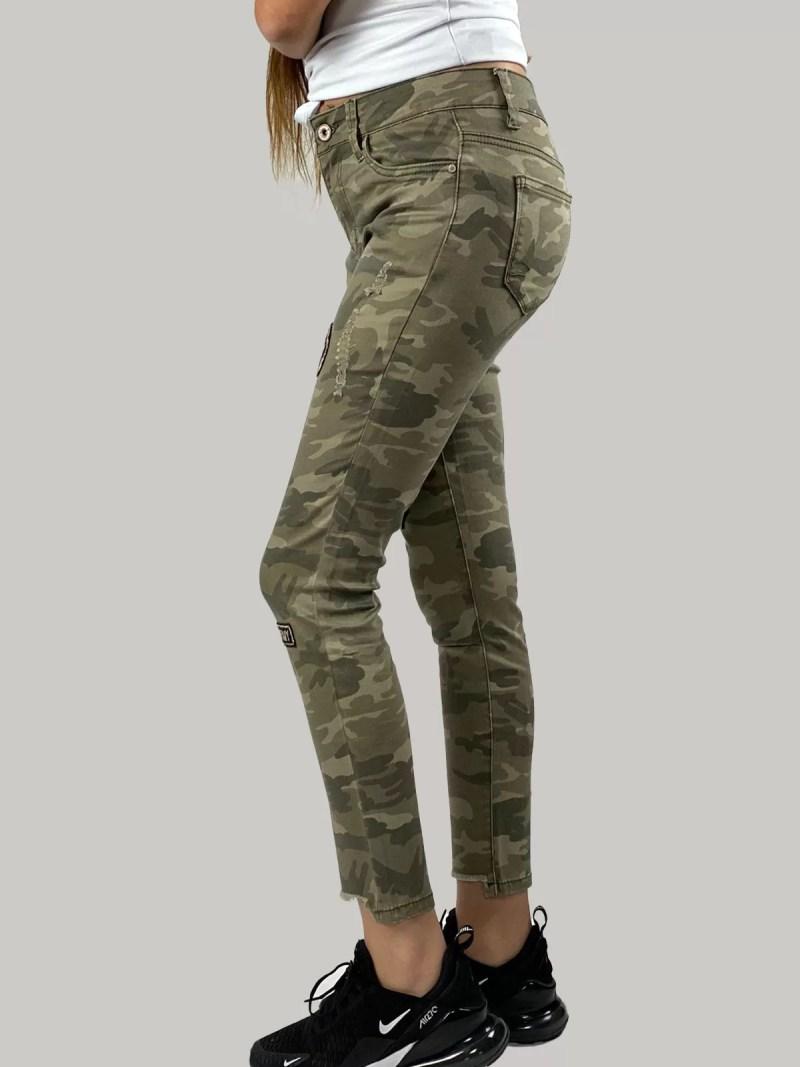 Camouflage-Print-Broek