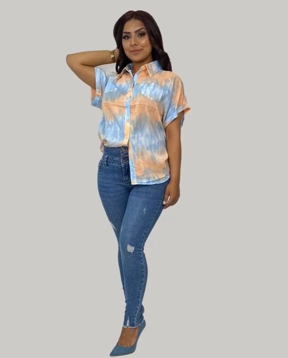 Tie-Dye-blouse
