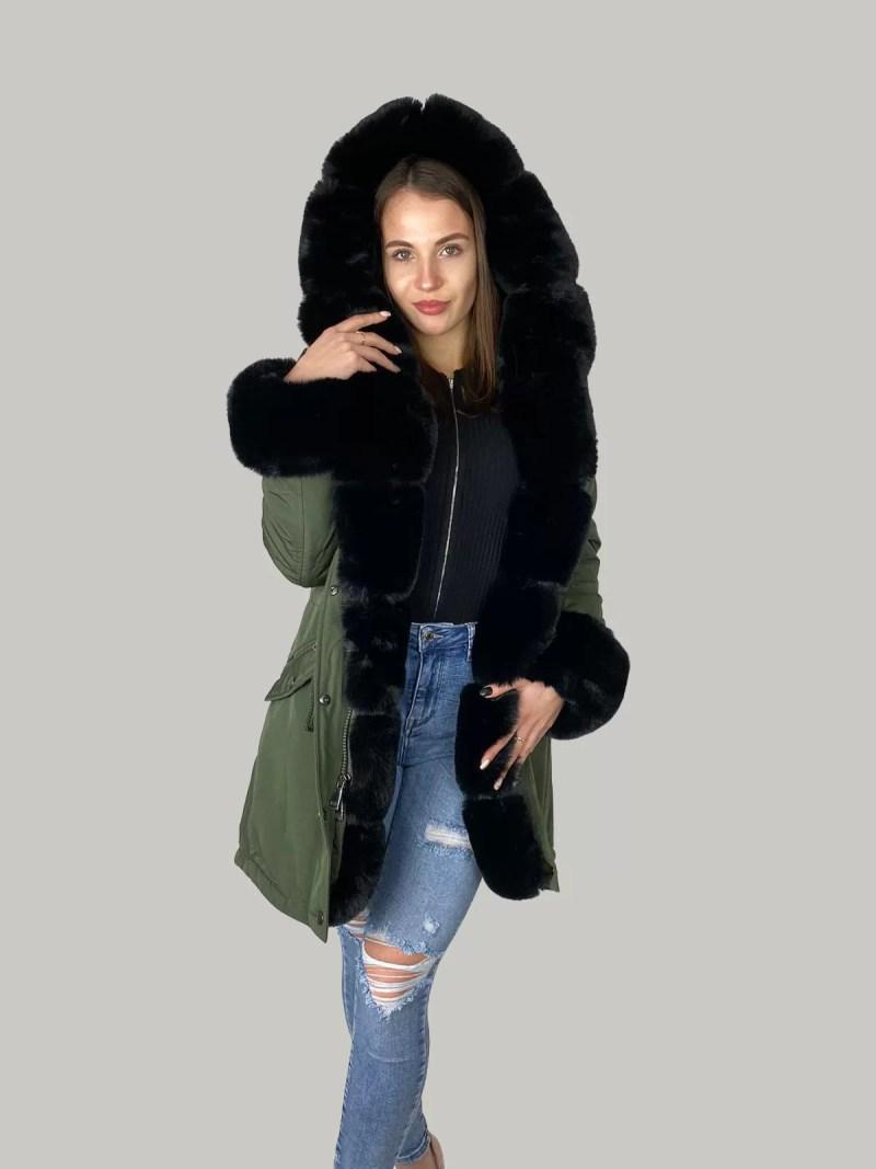 02 21 49 Furry Sleeve Jacket- Dames