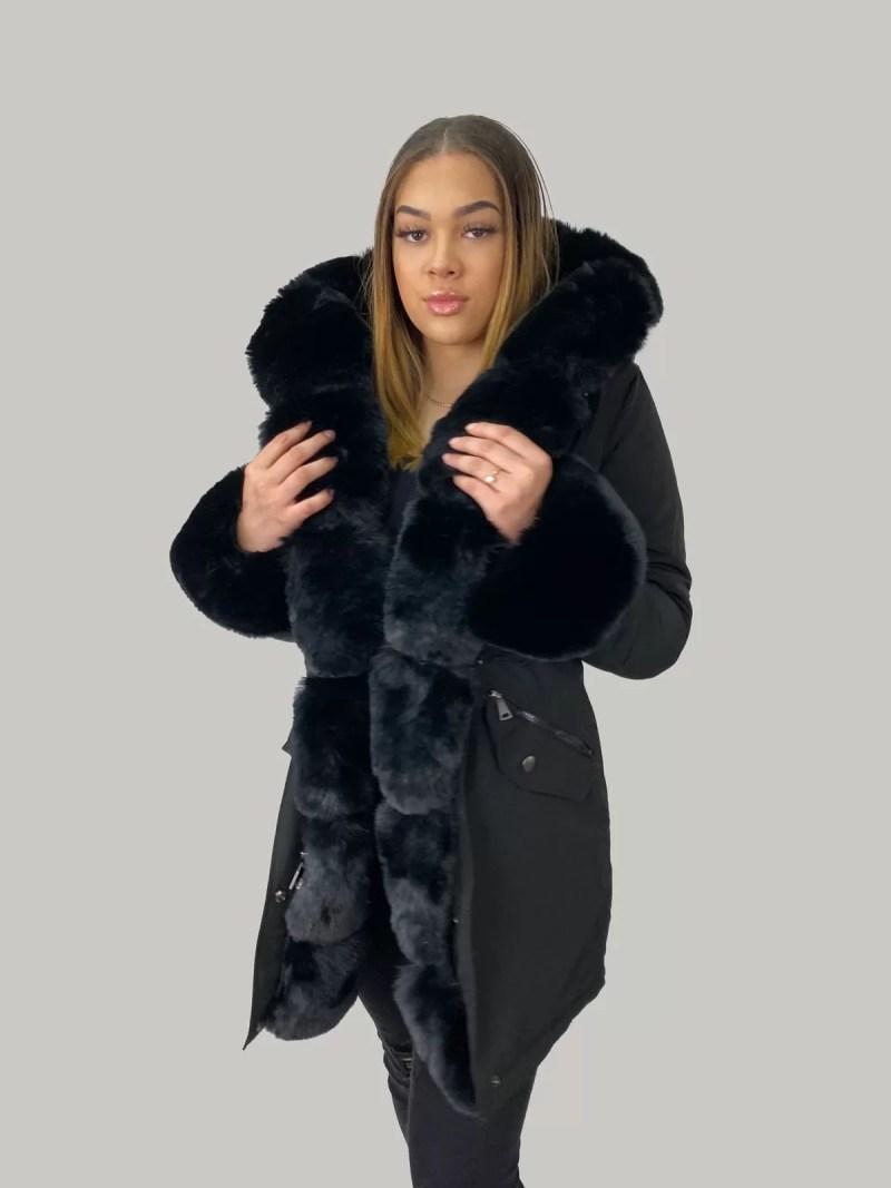 NV 20 448 min Furry Sleeve Jacket- Dames