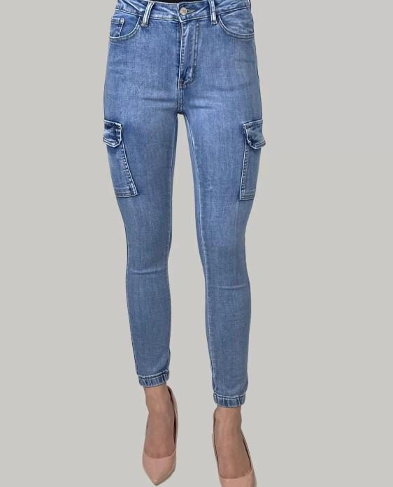 Cargo-Skinny-Jeans-Voor-Dames