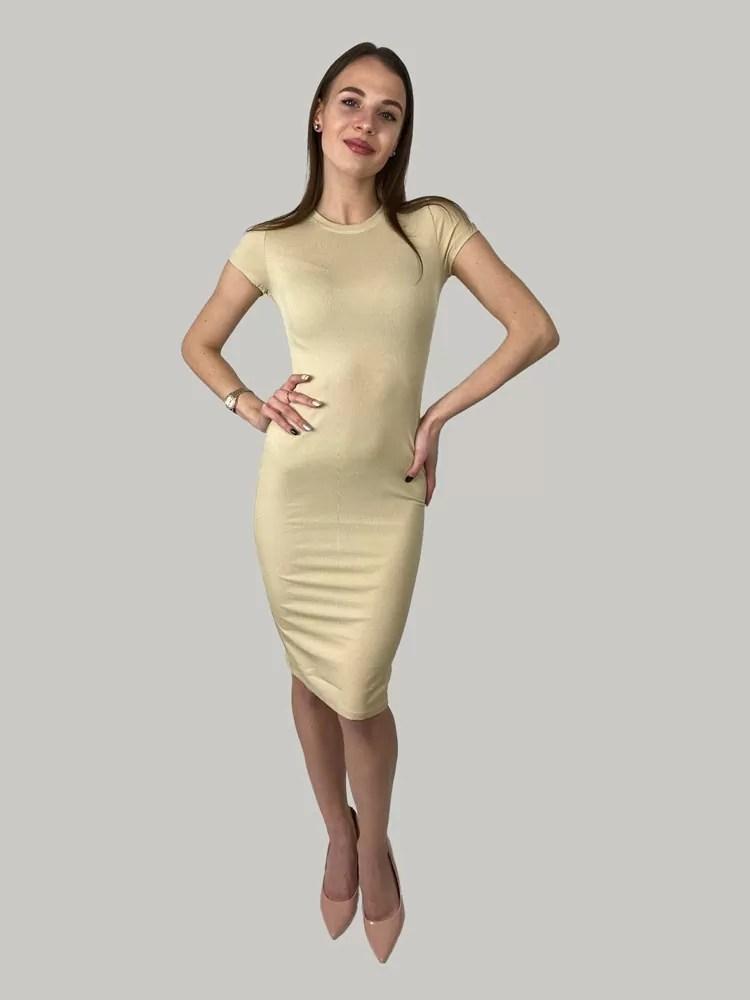 basic jurk beige Basic jurk