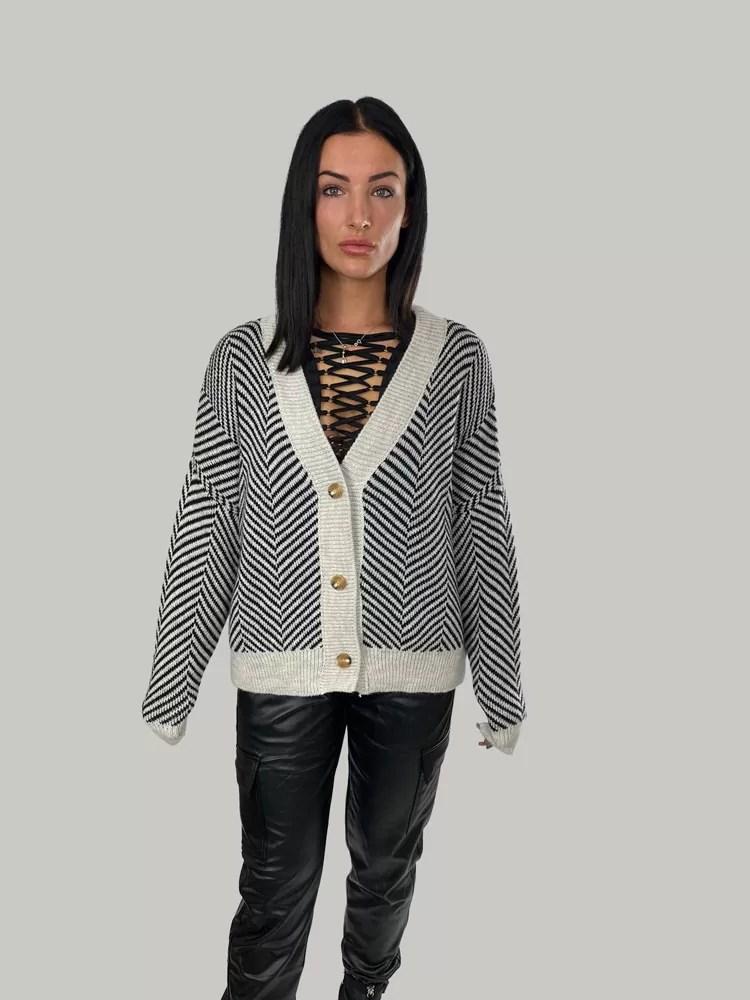 09 21 039 Dames Vest Voor Winter Gebreide