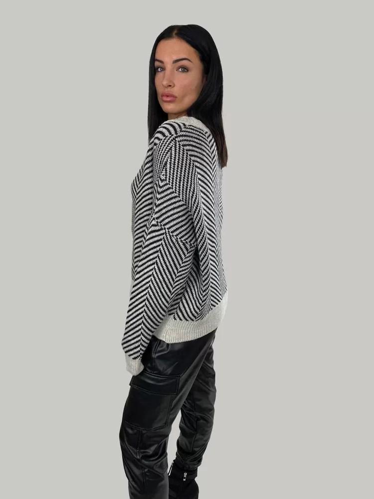 09 21 040 Dames Vest Voor Winter Gebreide