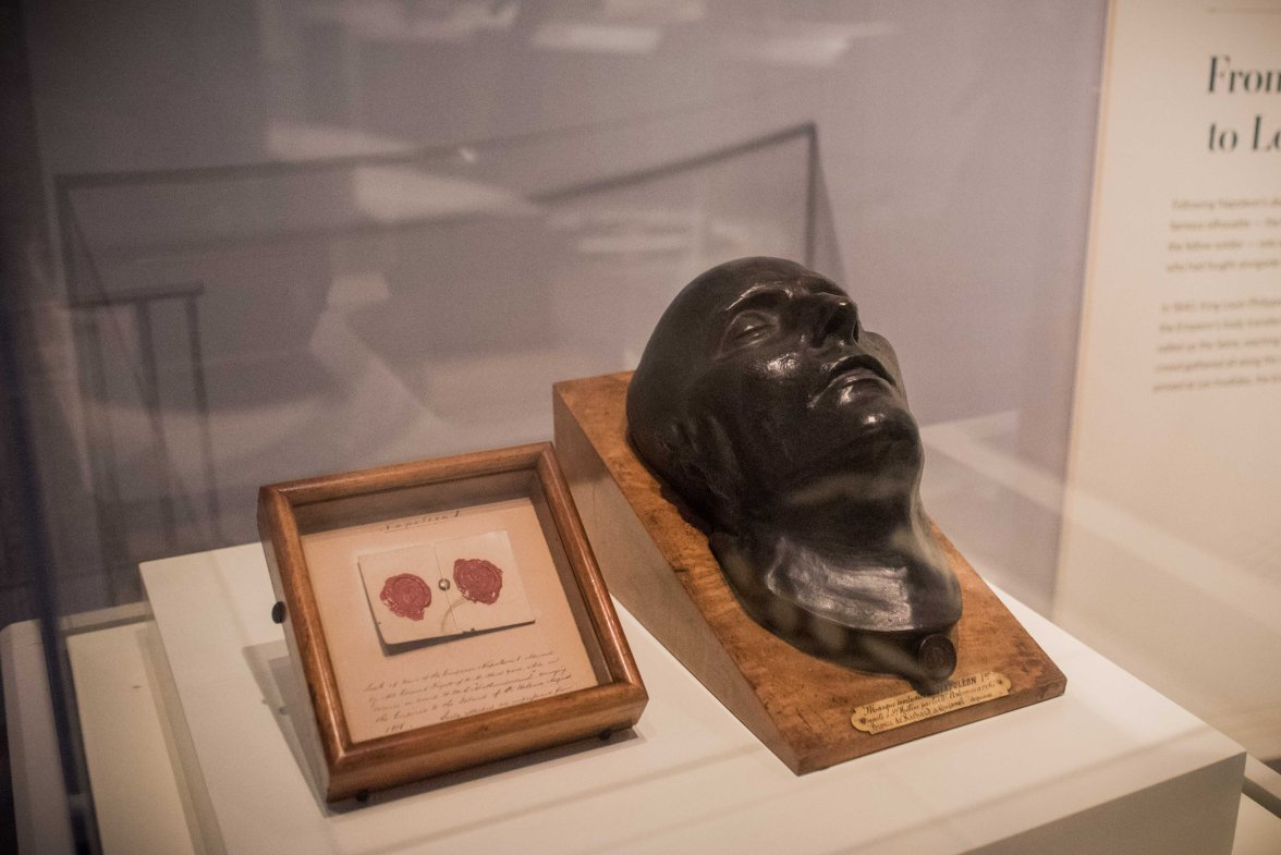 This is a cast of his face. The real Napoleon's face.