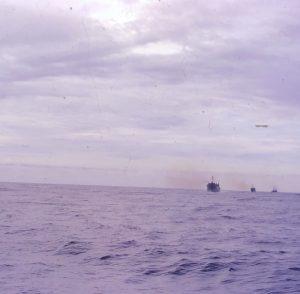 Naval Food ship rendezvous with naval fleet