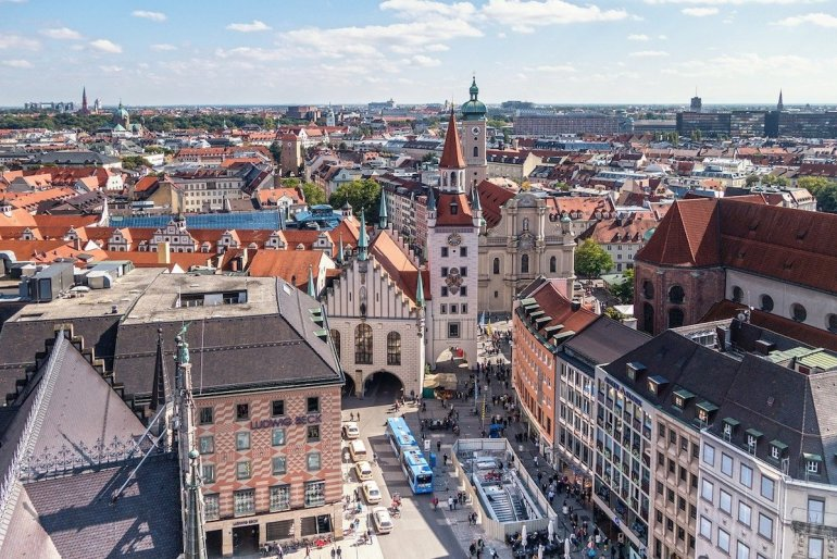 Vue aérienne de Munich