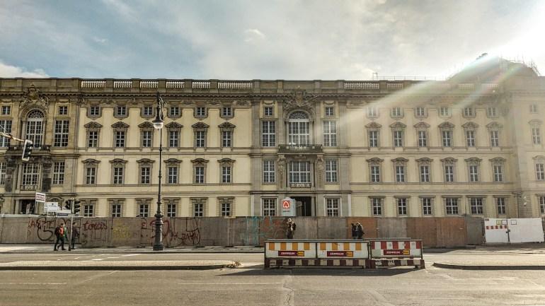 Château de Berlin en travaux