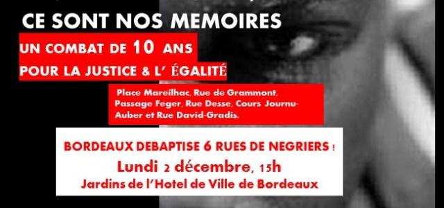 RUES DE NÉGRIERS – Un combat de 10 ans récompensé par la ville de Bordeaux
