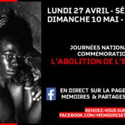 COVID19 – Sur FaceBook pour commémorer l'abolition de l'esclavage au Sénégal et en France