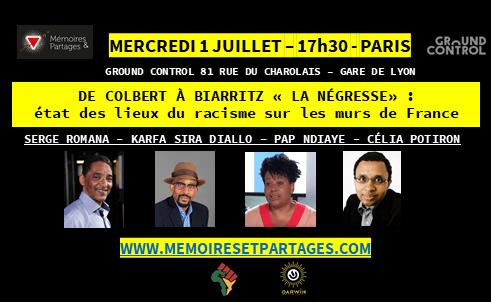 PARIS – Un état des lieux du racisme / Événement 1 juillet à Ground Control