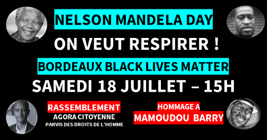 JOURNÉE MAMOUDOU BARRY- 18 juillet, 15h, Parvis des droits de l'homme – Bordeaux
