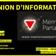[ RÉUNION D'INFORMATIONS GÉNÉRALES ] – Pour en savoir plus sur nous ce 18 septembre à Bordeaux