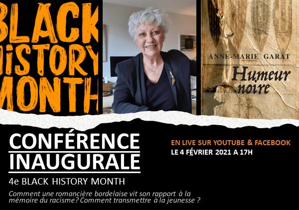 BLACK HISTORY MONTH – Conférence inaugurale de la romancière Anne-Marie Garat, 4 février à 17h
