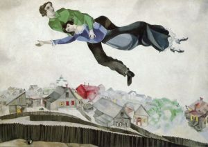 """Over the town"" By Marc Chagall, courtesy of MarcChagall.net"
