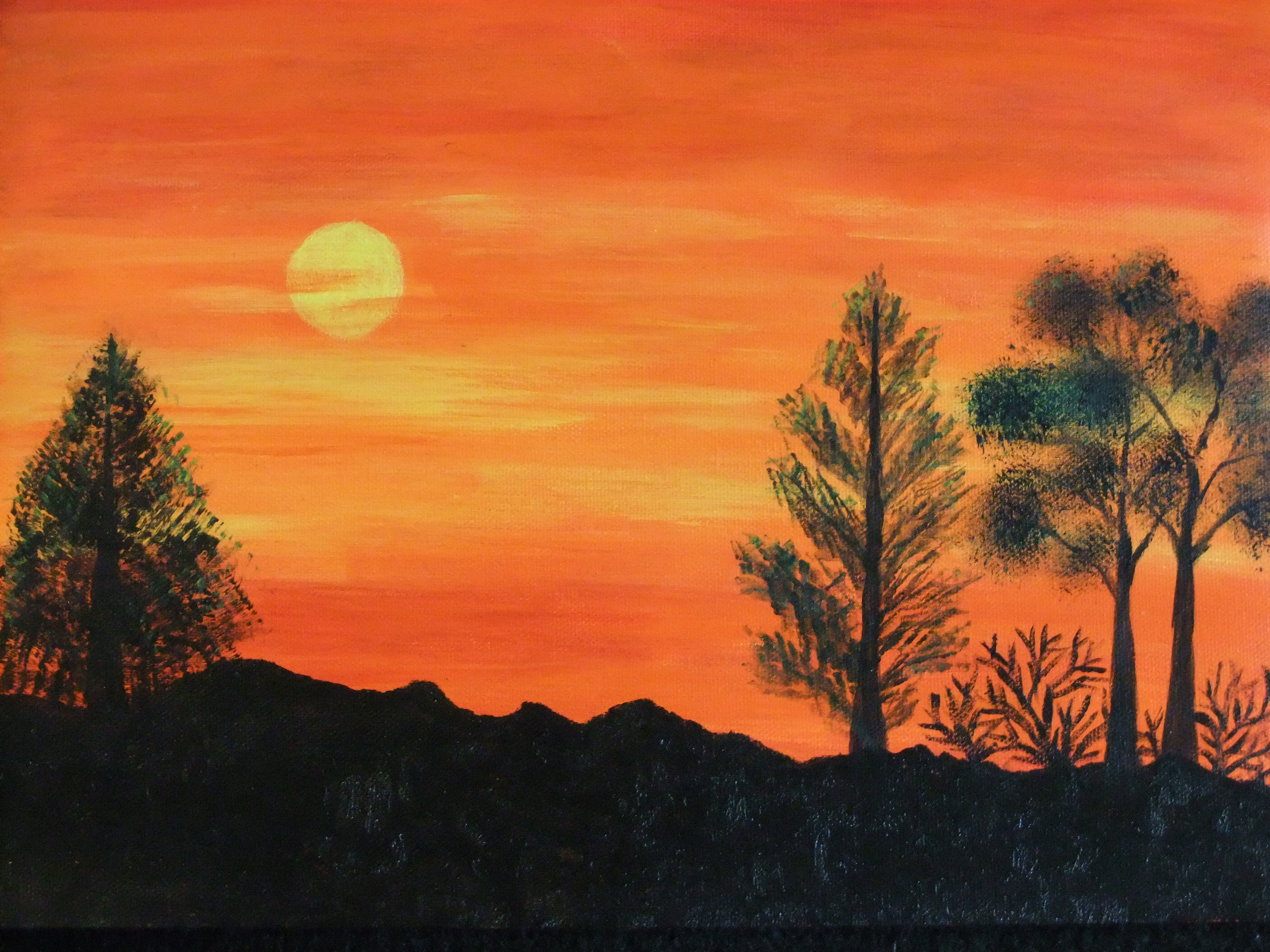 Acrylics on Canvas: Landscape painting - Memoir's Galore on Basic Landscaping  id=55598