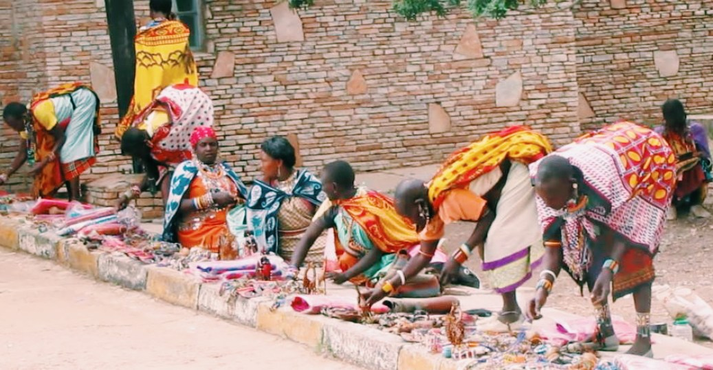 women selling accessories.