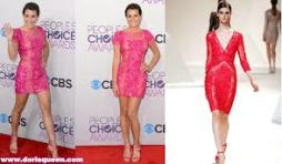 Lea Michelle looking belle in this spring fresh dress