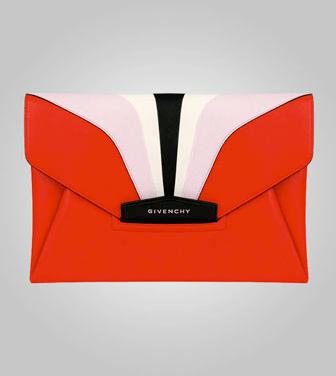 Givenchy-Red-Multicolor-Antigona-Envelope-Clutch-Bag