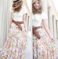 C2179 - Long Flower Skirt