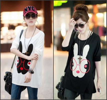 2012-New-arrival-Maternity-dress-Pregnant-women-Clothing-Tees-Cute-Rabbit-print-Mother-s-t-shirt