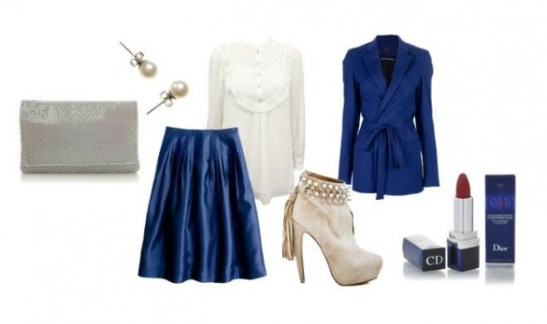 Electric-Blue-With-White-Outfit-Combination