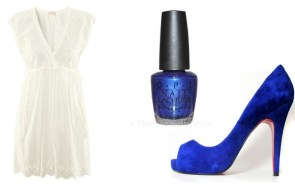 Romanic-Outfit-Combination-With-Electric-Blue-Heels