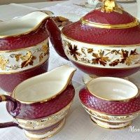 Wade's Rubytone Tea Set
