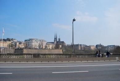 on Adolphe bridge
