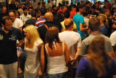 Crowd at La Rambla
