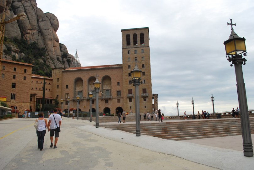 Out side monastery at Montserrat