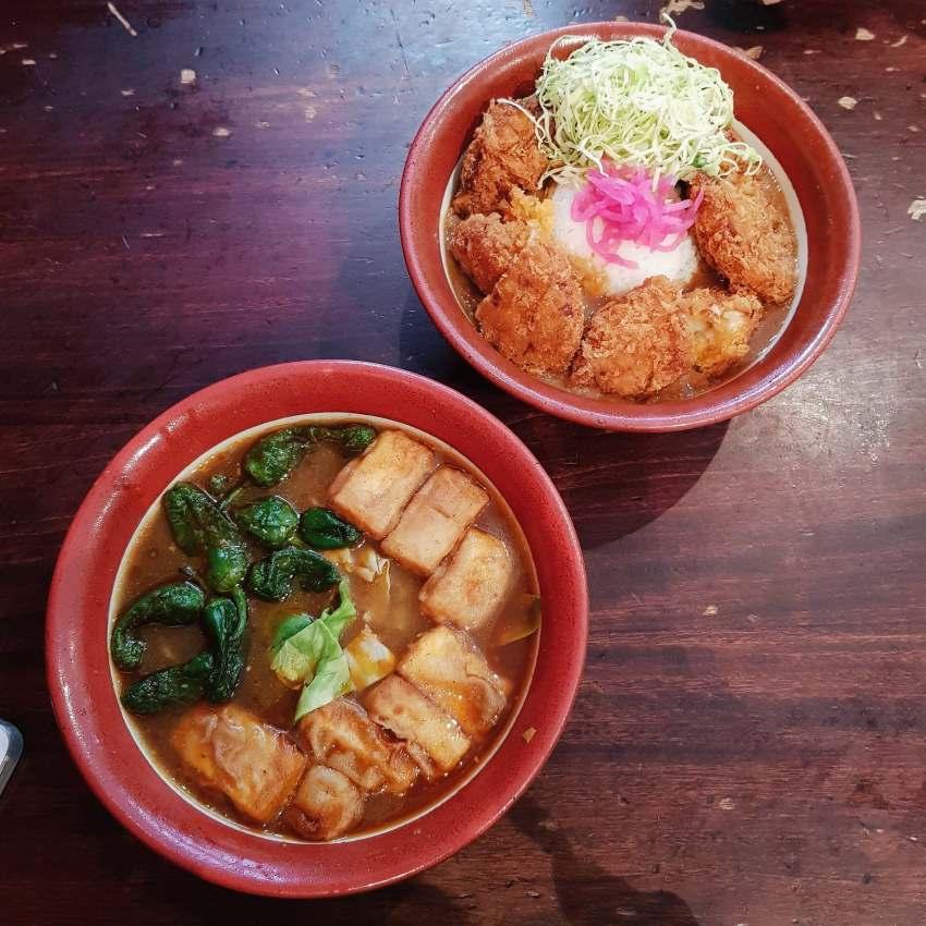 bone daddies soho review, tofu curry noodles, vegetarian vegan london